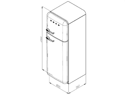 Smeg FAB30LV1  Retro Kühlschrank - 3