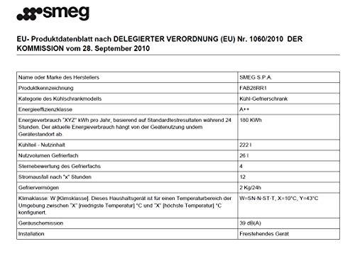 Smeg FAB28RR1 Standkühlschrank - 3