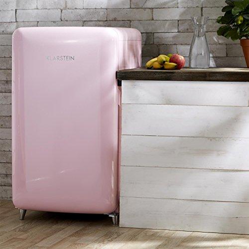 Klarstein PopArt Pink Kühl-Gefrierkombination Retro-Kühlschrank - 5