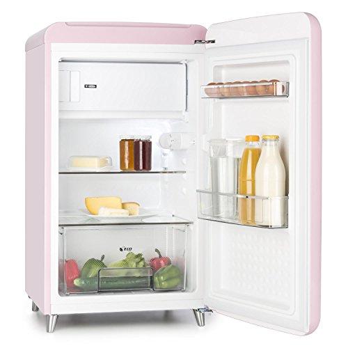 Klarstein PopArt Pink Kühl-Gefrierkombination Retro-Kühlschrank - 3