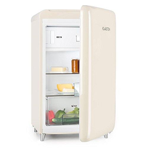 Klarstein PopArt Cream Kühlschrank Standkühlschrank