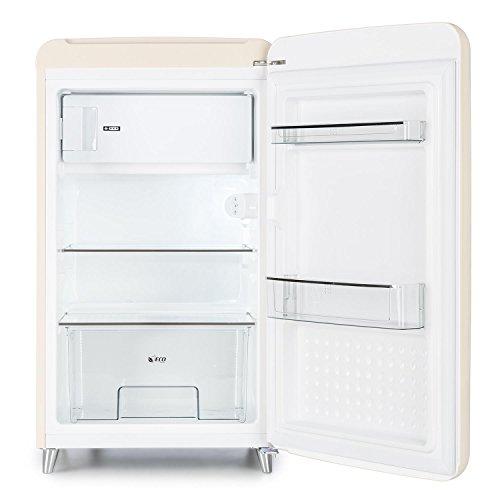 Klarstein PopArt Cream Kühlschrank Standkühlschrank - 5