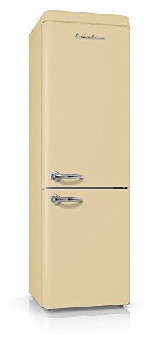 Schaub Lorenz SL250C Retro Kühl-Gefrier-Kombination Creme Matt EEK: A++
