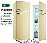 WOLKENSTEIN GK212.4RT FR/LB/SC/SP A++ Kühlschrank/A++ /Kühlteil166 liters /Gefrierteil40 liters