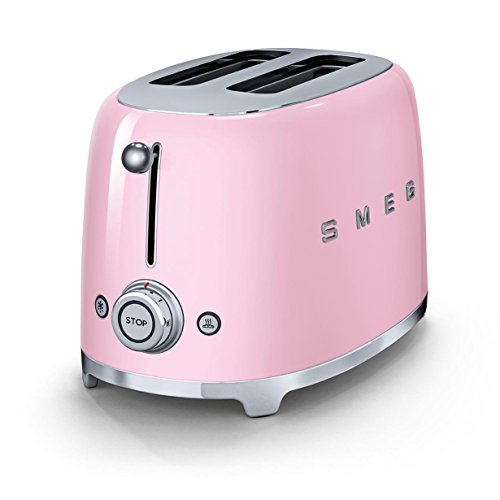 SMEG 2-Scheiben Retro Toaster in cadillac pink